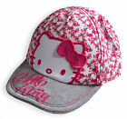 Girls Hello Kitty Hat New Kids Baseball Cap Pink Floral Summer Hats Ages 3-13