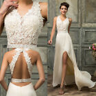 PLUS+V Neck Long Bridesmaid Formal Gown Ball Party Cocktail Evening Prom Dresses
