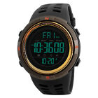 Mens Fashion Sport Watches LED Digital Military Countdown Double Time Watch Gift