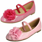 WHOLESALE Girls Flower Trim Ballerina Shoes / Sizes 9x2 / 16 Pairs / H2392