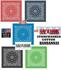*USA MADE HAV-A-HANK STONEWASHED Faded PAISLEY BANDANNA BANDANA Head Scarf Hanky