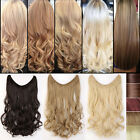 100% Real Thick Hidden Wire Headband One Piece in Invisible Hair Extensions Lfc