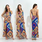 Summer Sexy Backless Nation Style Beach Long Skirt Party Cocktail Casual Sundres