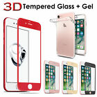 Clear Gel Case + 3D Tempered Glass Screen Protector Cover For Apple iPhone 6 7 +