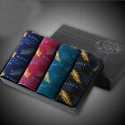 4PCS of Mixed Colors Mens Feather Printing Boxer Underwears