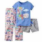 NWT ☀3PC SET☀ $26 CARTERS New CHILL OUT IT'S BEDTIME Girls Pajamas  24m 2T  $26