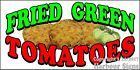 (CHOOSE YOUR SIZE) Fried Green Tomatoes DECAL Concession Food Truck Sticker