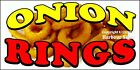 (CHOOSE YOUR SIZE) Onion Rings DECAL Concession Food Truck Vinyl Sticker