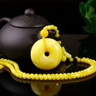 Second generation beeswax chicken oil yellow sweater chain peace buckle pendant