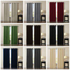 Chezmoi Collection Solid Grommet Thermal Insulated Blackout Curtain Window Panel