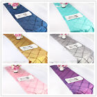 "12""x108"" Taffeta Pintuck Table Runner Cloth For Wedding Party Dining Decoration"