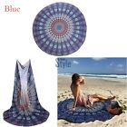 Indian Peacock Mandala Round Tapestry Hippie Gypsy Beach Throw Blanket YA427