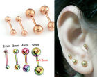 Hipster Double Round Anti-Allergy Titanium Steel Earrings Stud Free Shipping