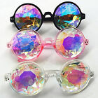 New Kaleidoscope Plastic Glasses Icon Round Sunglasses Lens Concert Show Model
