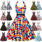50s 60s Retro Vintage Pinup Swing Dress Floral Cocktail Party Evening Dresses @