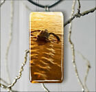 TURTLE ON ROAD TO FREEDOM RECTANGULAR GLASS PENDANT 2 SIZES -fgb4Z