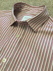 SMYTH & GIBSON CONTEMPORARY FIT CRANBERRY STRIPE SHIRT S SMALL COST £105