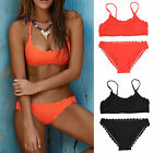 Women Push Up Padded Bra Bikini Set Swimsuit Triangle Swimwear Bathing Suit New