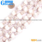 White Biwa Freshwater Cultured Pearl Butterfly Beads Free Shipping Strand 14.5""