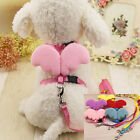 Training Dog Pet Puppy Cat Adjustable Angel Harness Lead leash Traction rope New