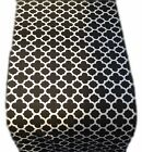 1 TABLE RUNNERS -in QUATREFOIL col.black tile moroccan trellis -fully lined xmas