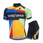 Pro Men's Team Cycling Jersey Shorts Kits Bike Bicycle Clothing Short Sleeve Set