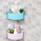AU Bathroom Corner Shelf Suction Rack Organizer Cup Storage Shower Wall Basket