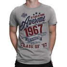 50 Years Of Being AWESOME Mens 50th T-Shirt Class of 1967 Birthday Gift Retro