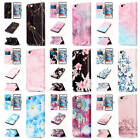 For iPhone 6 Plus 6S Plus Colorful Patterns Leather Card Wallet Stand Flip Cover