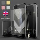 Full Body Protective Case+Tempered Glass Screen Protector for iPhone 6 S7 Plus