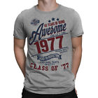 40 Years Of Being AWESOME Mens 40th T-Shirt Class of 1977 Birthday Gift Retro
