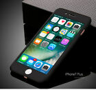 Hybrid 360° Hard Ultra thin Case + Tempered Glass Cover For iPhone 5s 6s 7 Plus