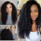 Fashion Women Lace Front Wig Real Human Hair Silky Long Wave Straight Daily Wigs