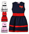 Girls Party Dress New Kids Toddlers Sleeveless Baby Dresses Ages 1- 5 Years