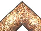 "2.3"" Aged Copper Rose Ornate Wood Canvas Frame Picture Frame-Custom Standard"