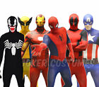 Morphsuit Marvel Superhero Costume Deadpool Spiderman Cpt America Zentai Suit