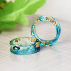 Natural Clear DIY Scenery Painting Resin Real Dried Flower Ring Women Jewelry