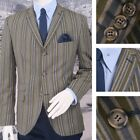 Adaptor Clothing Mod 60's Retro Ivy League 3 Button Striped Boating Blazer Jacke