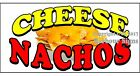 (CHOOSE YOUR SIZE) Cheese Nachos DECAL Concession Food Truck Vinyl Sign Sticker