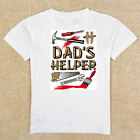 Boys Girls Infant Toddler Youth White TShirt Creeper Dad's Tools Helper