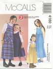 McCalls 4160 Girls 2 Hour Dress or Jumper Sewing Pattern ~ Size 3 4 5 6