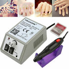 UK PLUG Electric Nail Art Drill File Bits Manicure Pedicure Machine Full Set