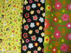 Flower Allover Fabric By Fat Quarter FQ UPICK cotton quilting piece square