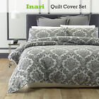 3 Pce Inari Damask Jacquard Quilt Cover Set by Phase 2 - DOUBLE QUEEN KING