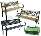 Wooden/metal Garden Patio Bench Seat Outdoor Park Seater Lattice/rose Furniture