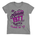 40 Years Of Being AWESOME Ladies 40th T-Shirt Class of 1977 Birthday Gift