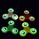 Luminous Smiling Expression Tri-Spinner EDC Hand Spinner Focus Desk Toy Pretty