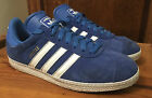 GORGEOUS ADIDAS GAZELLE BLUE SUEDE TRAINERS UK 8 EU 42 COST £75