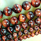 "Red Tiger Eye Round Gemstone Beads 15"" 6mm 8mm 10mm 12mm 14mm Pick Size"