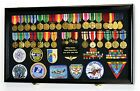 large shadow boxes display cases - Large Military Medals Flag Pins Ribbons Patches Display Case Cabinet Shadow Box